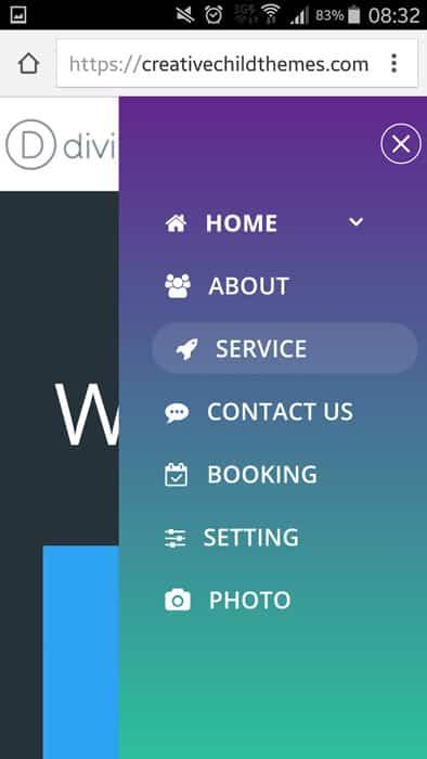 menu-mobile-style-2 mobile menu divi
