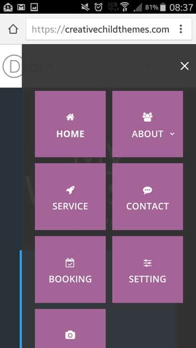 menu-mobile-style-6 mobile menu divi