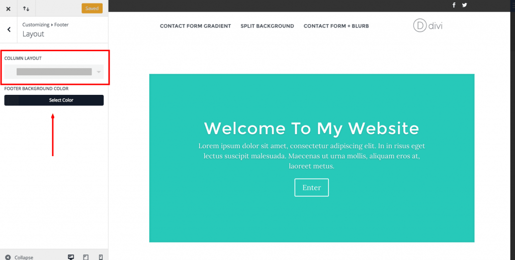 Divi Theme: How to customize the footer - Needyesterday