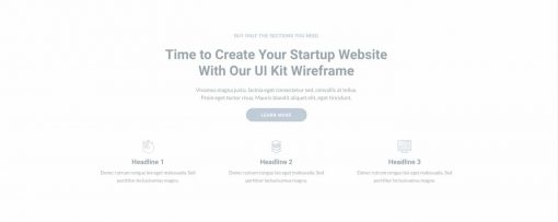 UI About us Wireframe 2