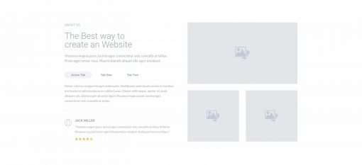 UI About us Wireframe 3