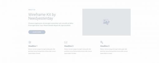 UI About us Wireframe 4