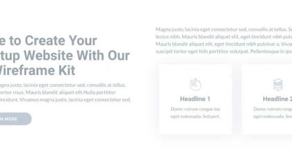 UI About us Wireframe 5