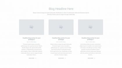 UI Blog Wireframe 1