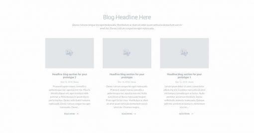 UI Blog Wireframe 1