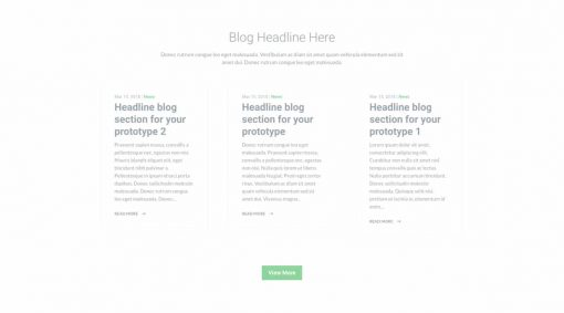 UI Blog Wireframe 2