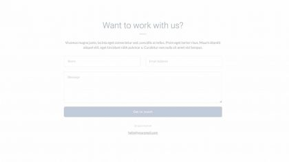 UI Contant us Wireframe 2