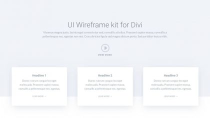 UI Header Wireframe 1