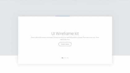 UI Header Wireframe 2