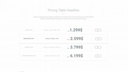 UI Pricing Wireframe 1